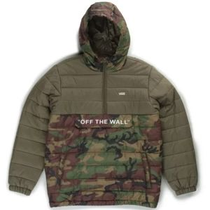 Vans Camo Anorak Puffer Jacket Mens Green/Brown